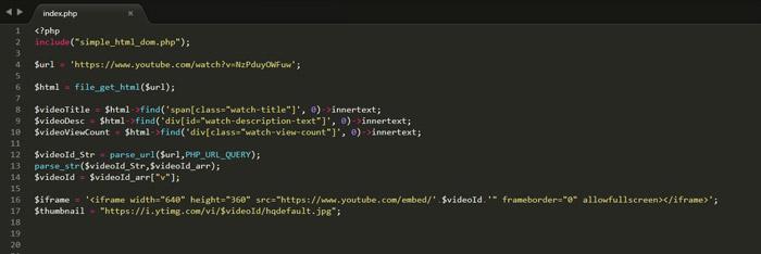 Php Youtube Bot Örneği
